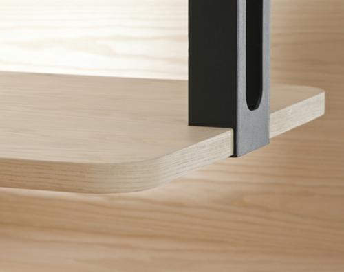 Holz ess - stand design natur echt metall bude