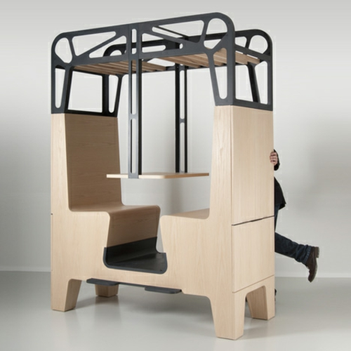 ess - stand design holz natur sitzplätze bude