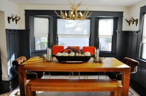 25 elegante esszimmer designs in verschiedenen stilen for Esszimmer orange