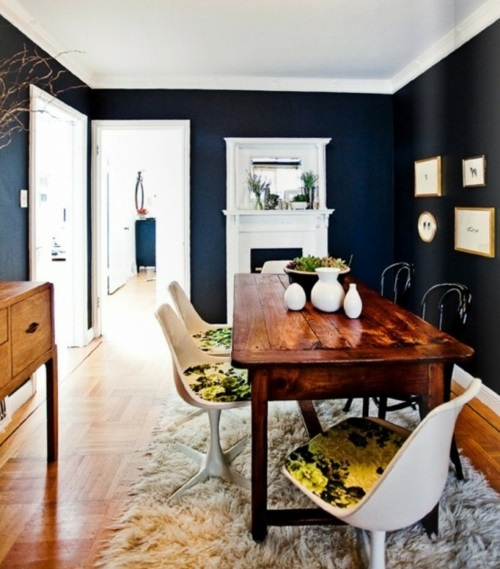 esszimmer stilvoll elegant weich teppich design