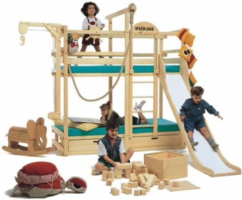 etagen betten für kinder angebracht spielzimmer kinder
