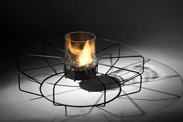 extrem kreative, coole Kaffee Tische fire coffe design