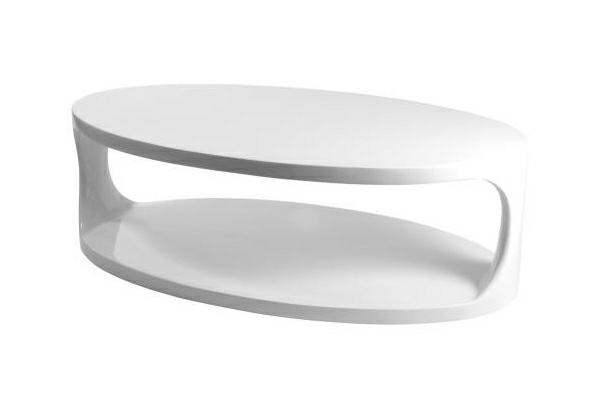 extrem kreative coole kaffee tische plastisch oval weiß serena