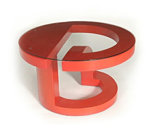 extrem kreative coole kaffee tische rot glas rund