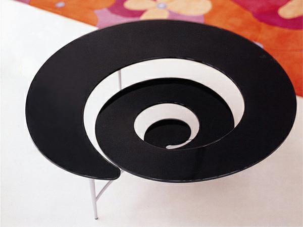 extrem kreative coole kaffee tische spiralförmig schwarz oberfläche