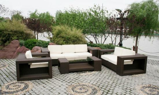 Best Fabelhaftes Esszimmer Design Im Garten Rattan Elegant Mbel With Rattan  Essecke Garten
