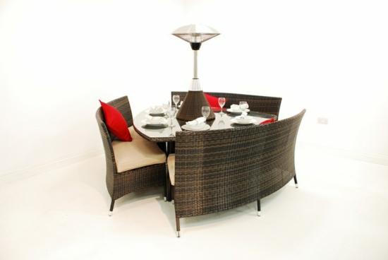 fabelhaftes esszimmer design im garten rattan garten möbel auflagen