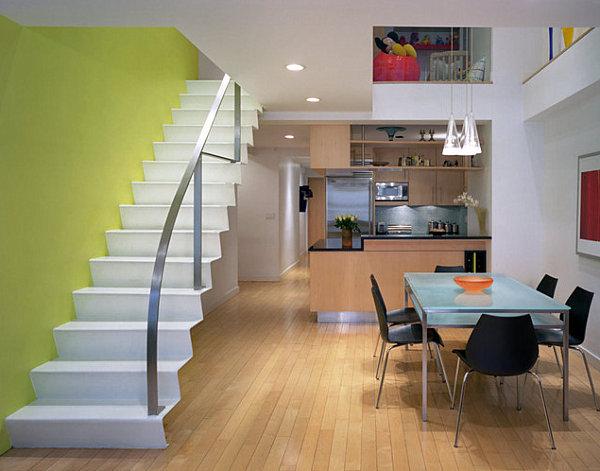 farbiges interior design gr n in der hauptrolle modern und frisch. Black Bedroom Furniture Sets. Home Design Ideas