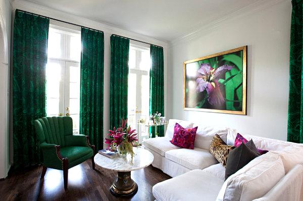 Farbiges Interior Design - Grün in der Hauptrolle - modern und frisch