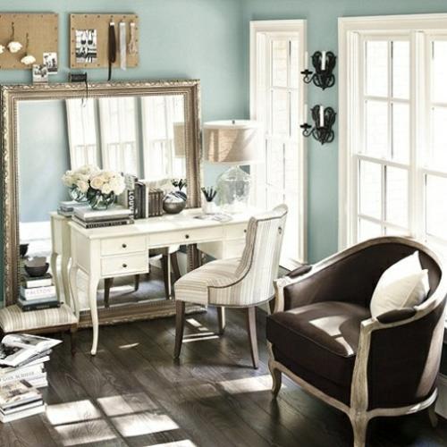 feine home office ideen elegant braun sofa zwei personen klassiker