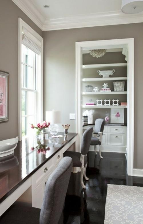 feine home office ideen elegant glanzvoll oberfläche