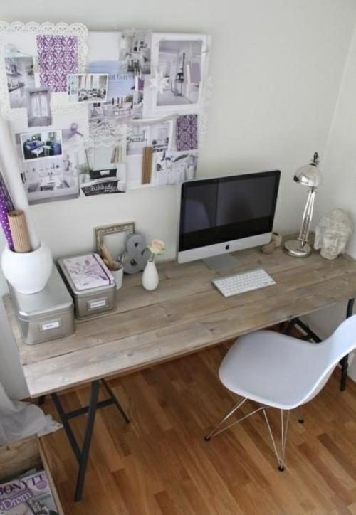 feine home office ideen elegant holzoberfläche plastisch stuhl