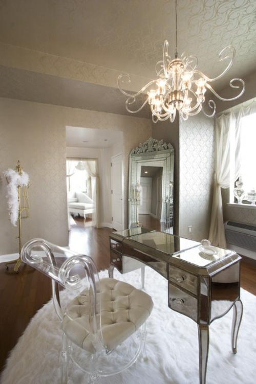 feine home office ideen elegant klassisch leder auflage acyl sessel