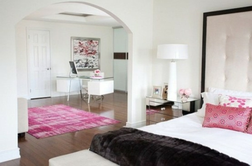 feine home office ideen elegant schlafzimmer bereich
