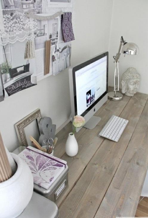 Feine Home Office Ideen Elegant Schlicht Massiv Holz Schreibtisch