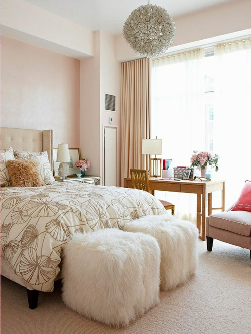46 romantische schlafzimmer designs s e tr ume for Sophisticated feminine bedroom designs