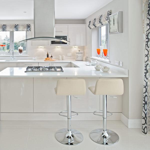 frische coole küchen farben arbeitsplatte weiß texturen