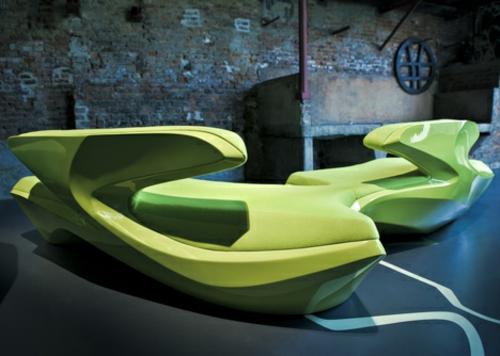 attraktives schönes designer sofa zaha hadid idee glatt klare formen