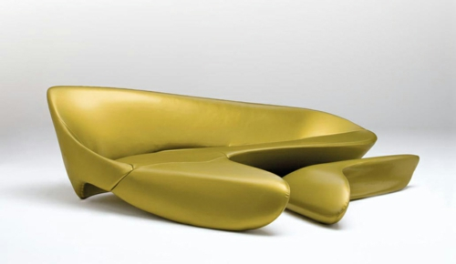 attraktives schönes designer sofa zaha hadid idee glatt klare linien