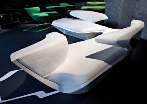 futuristisch designer sofa zaha hadid idee originell