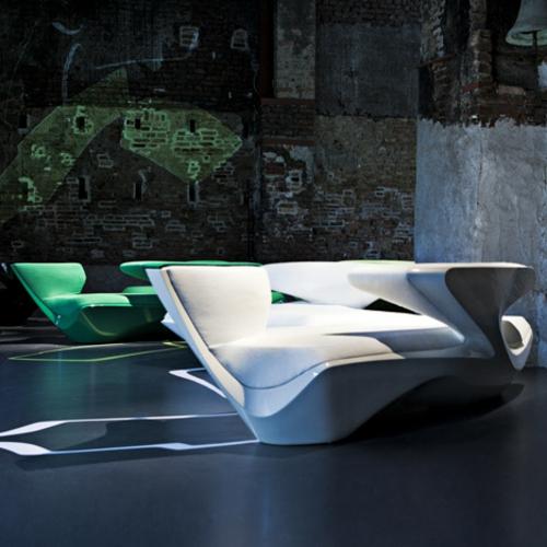 attraktives schönes designer sofa zaha hadid idee weiß