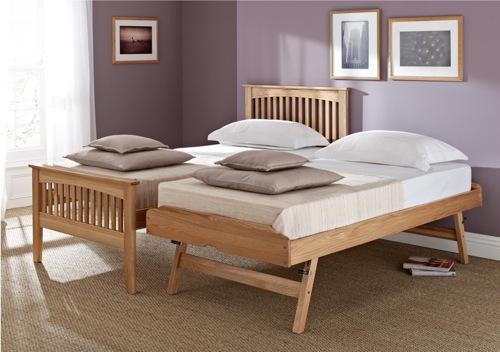 moderne Gäste Bett Designs bettdecke holz rahmen eiche sleep sanctuary