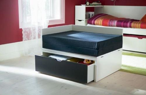 moderne Gäste Bett Designs schwarz schubladen IKEA