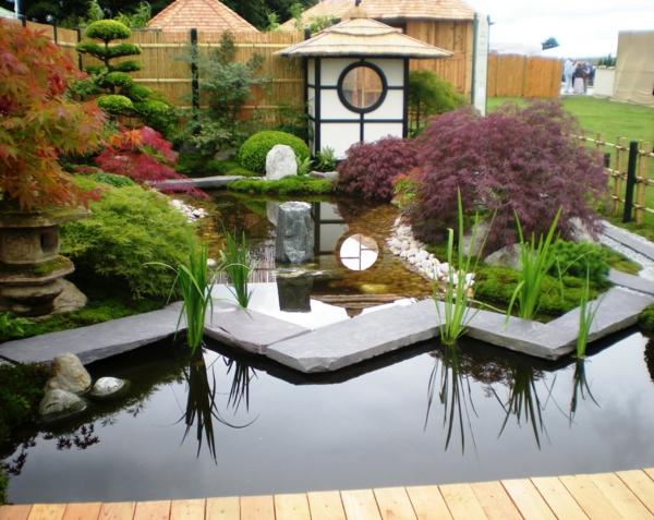 gartengestaltung mit steinen japanischer garten hinterhof