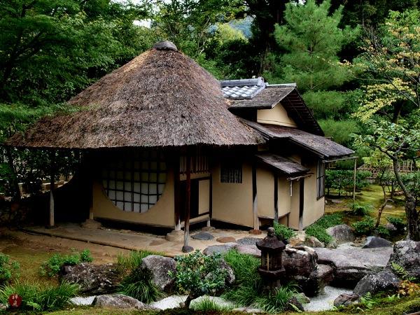 gartengestaltung mit steinen japanischer garten wasser häuschen