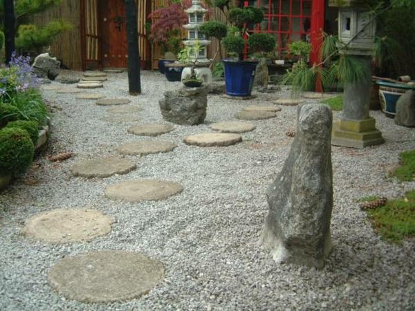 gartengestaltung mit steinen japanischer gartenhof