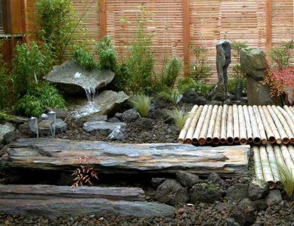 gartengestaltung mit steinen tsubo niwo wasser
