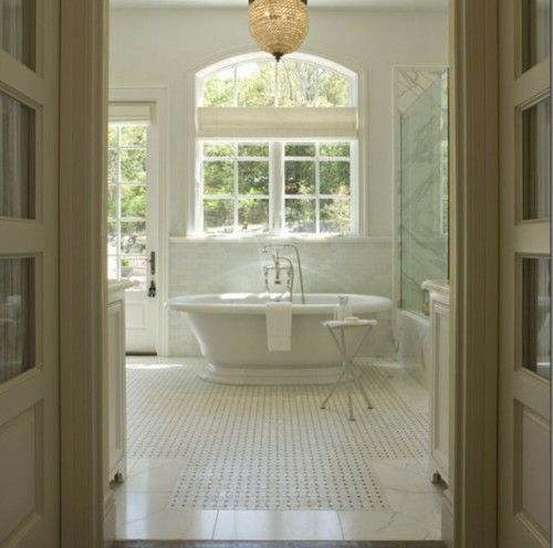 glas kugel kronleuchter dekoration badewanne weiß farbe