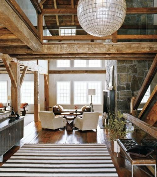 glas kugel kronleuchter dekoration teppich streifen dachgeschoss holz