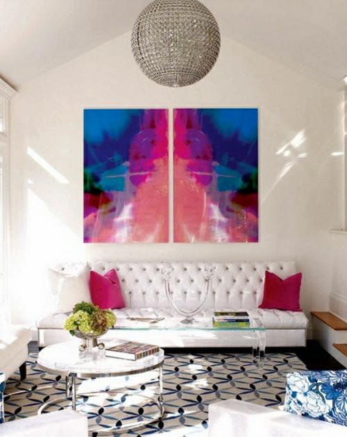 glaskugel  deko ideen weiß wand modern interior