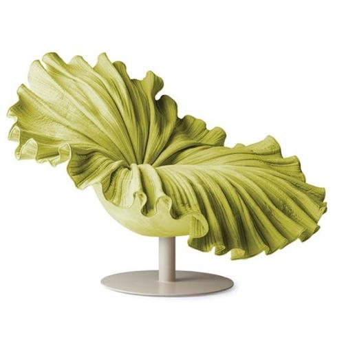 hellgrüne Sessel Designs modern originell weiß sockel
