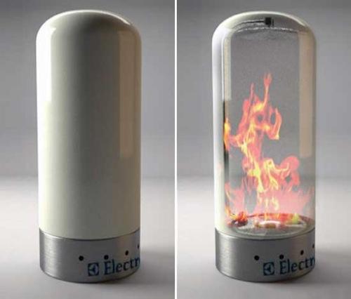 wunderliche tragbare Feuer Stellen electrolux