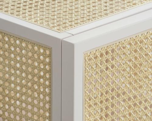 Große Schrank Designs aus Rattan weiß birken rahmen rattan struktur