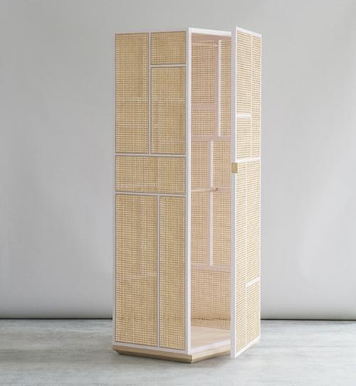 Große Schrank Designs aus Rattan weiß birken rahmen schranktür