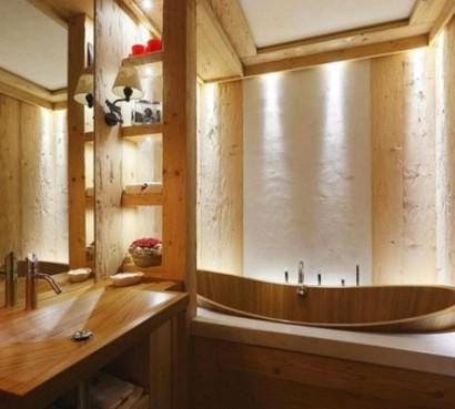 Inneneinrichtung Wohnung hölzerne inneneinrichtung elegante rustikale wohnung im echten holz