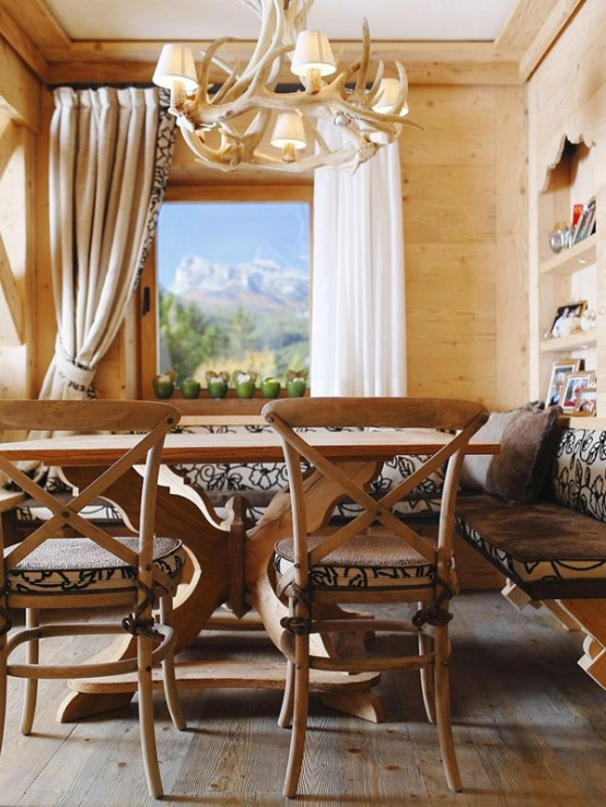 h lzerne inneneinrichtung elegante rustikale wohnung im echten holz. Black Bedroom Furniture Sets. Home Design Ideas