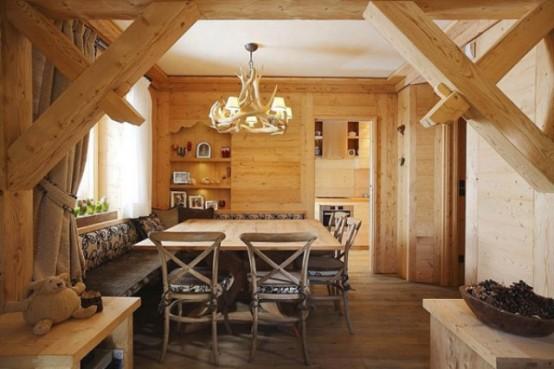 Hlzerne Inneneinrichtung Haus Naturholz Ausstattung Essbereich
