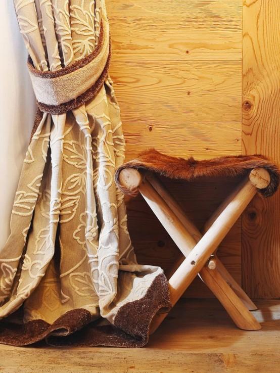 hölzerne inneneinrichtung haus naturholz ausstattung gardinen stuhl