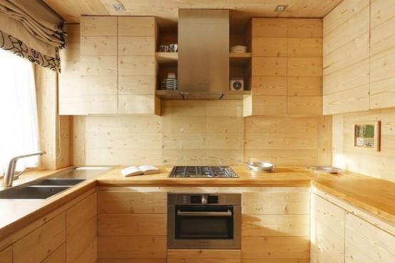 hölzerne inneneinrichtung haus naturholz ausstattung küche