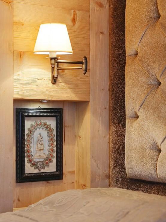 hölzerne inneneinrichtung haus naturholz ausstattung wand lampe