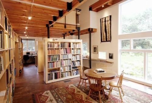 coole ideen für haus bibliothek anordnung - einrichtungslösungen