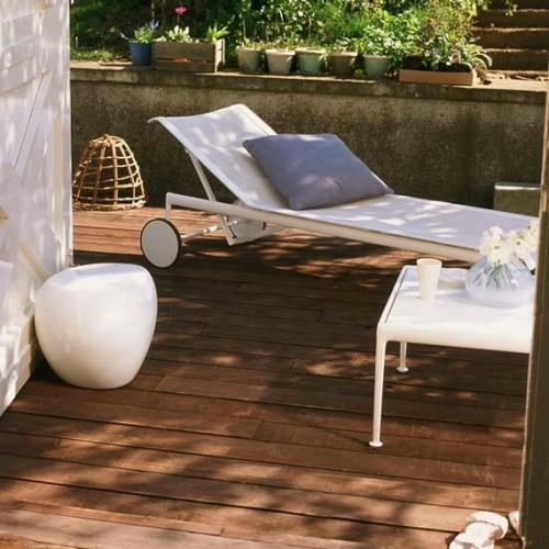holzboden belag garten idee terrasse liege