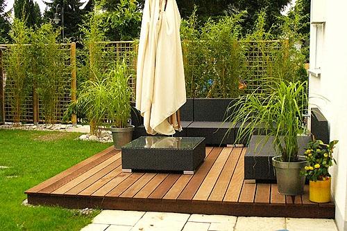 holzterrasse verlegen - coole idee für ihren außenbereich, Gartengerate ideen