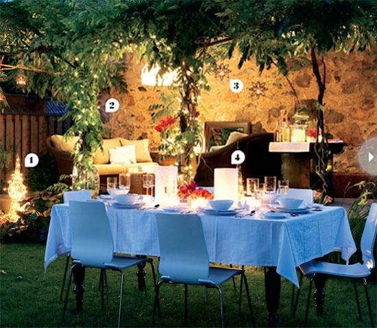 Esstisch Stühle Blau ~ Ideen für indirekte Beleuchtung im Garten  Erhellen Sie die Nächte