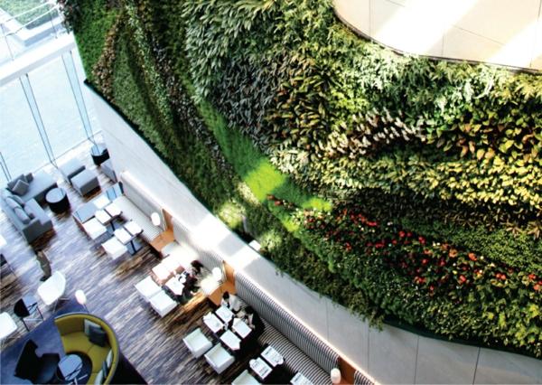 indoor garten gestalten pflegen schönheit vertikal natur