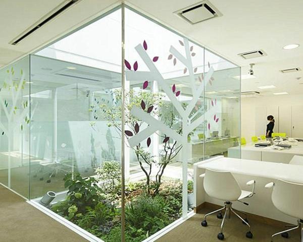 indoor garden gestalten pflegen weiß farben einrichtung